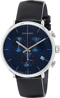 Calvin Klein Reloj Cronógrafo para Unisex Adultos de Cuarzo con Correa en Cuero K8M271CN