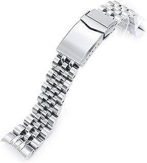 Strapcode, cinturino per orologio, 20 mm, super 3D, in acciaio inox 316L, per Tudor BB58, chiusura girevole spazzolata