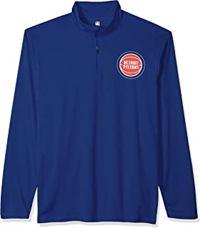Ultra Game NBA Men's Quarter-Zip Pullover Active Performance Shirt
