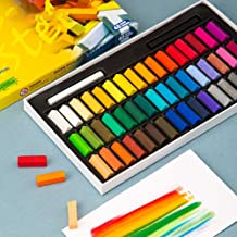 Camidy Square Chalk Pastel Chalk Stick 12 Assorted Colors Set for Students Beginners Professionals