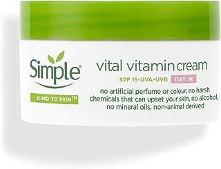 Simple Vital Vitamin Dagcrème Met SPF15, Hydrateert, Voedt En Beschermt De Huid, 50ml