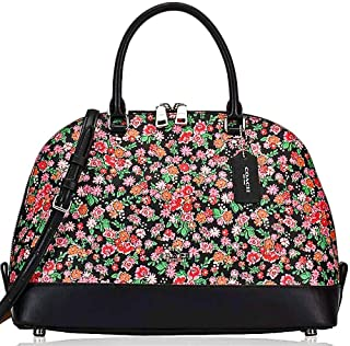 SALE ! New Authentic COACH Elegant Woman's handbag in Black, Pink, multi. Carry 3 ways! by hand, shoulder & crossbody