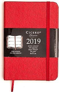 Agenda Clássica Semanal, Cicero, 5422, Vermelho