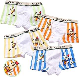XM-Amigo Bear & Car Little Boys Calzoncillos bóxer calzoncillos de algodón para niños de 2 a 11 años