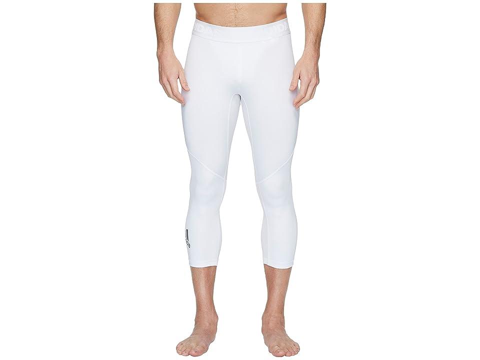 adidas Alphaskin Sport 3/4 Tights (White) Men