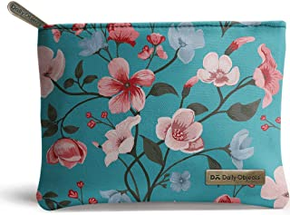 DailyObjects Turqoise Blooms Tiny Stash Pouch
