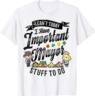 Animal Crossing Important Mayor Stuff Graphic T-Shirt T-Shirt