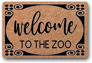 BXBCASEHOMEMAT Welcome to The Zoo Doormat, Welcome mat, Housewarming Gift, Entryway Decor, Family Door Mat, Funny Doormat, Porch Humor 23.6