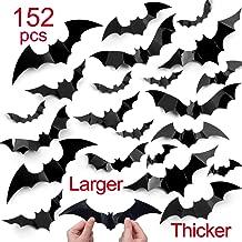complex Halloween Decorations 152pcs Halloween Bat Wall Decals Stickers,Extra Large 3D Bats for Wall Window Mirror Decals, Door Halloween Decors