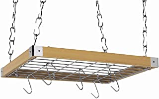 Concept Housewares Rectangular Pot Rack, Natural, 23 inch