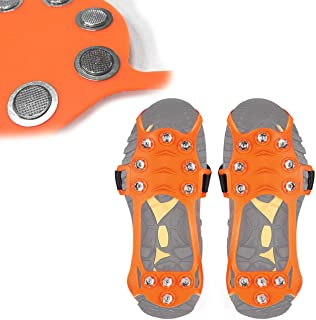 featured product Wirezoll Ice Cleats, Stainless Steel Traction Cleats, Portable Walk Spikes Crampons for Walking, Jogging, Hiking, Mountaineering Ice Snow Grips