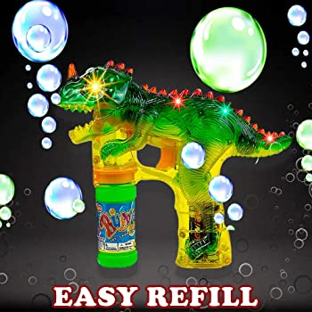 Toysery Dinosaur Bubble Machine Gun for Kids - Automatic Colorful Bubble Blower - Kids Summer Outdoor Fun Bubble Blas...