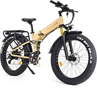 Wallke X3 Pro26-inch Upgrade The Frame Fat Tire Electric Bicycle 48V14AH Battery Adult Auxiliary Bike 750W Mountain Snow E...