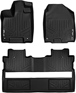 SMARTLINER Custom Fit Floor Mats 2 Row Liner Set Black for 2017-2019 Honda Ridgeline Crew Cab - All Models