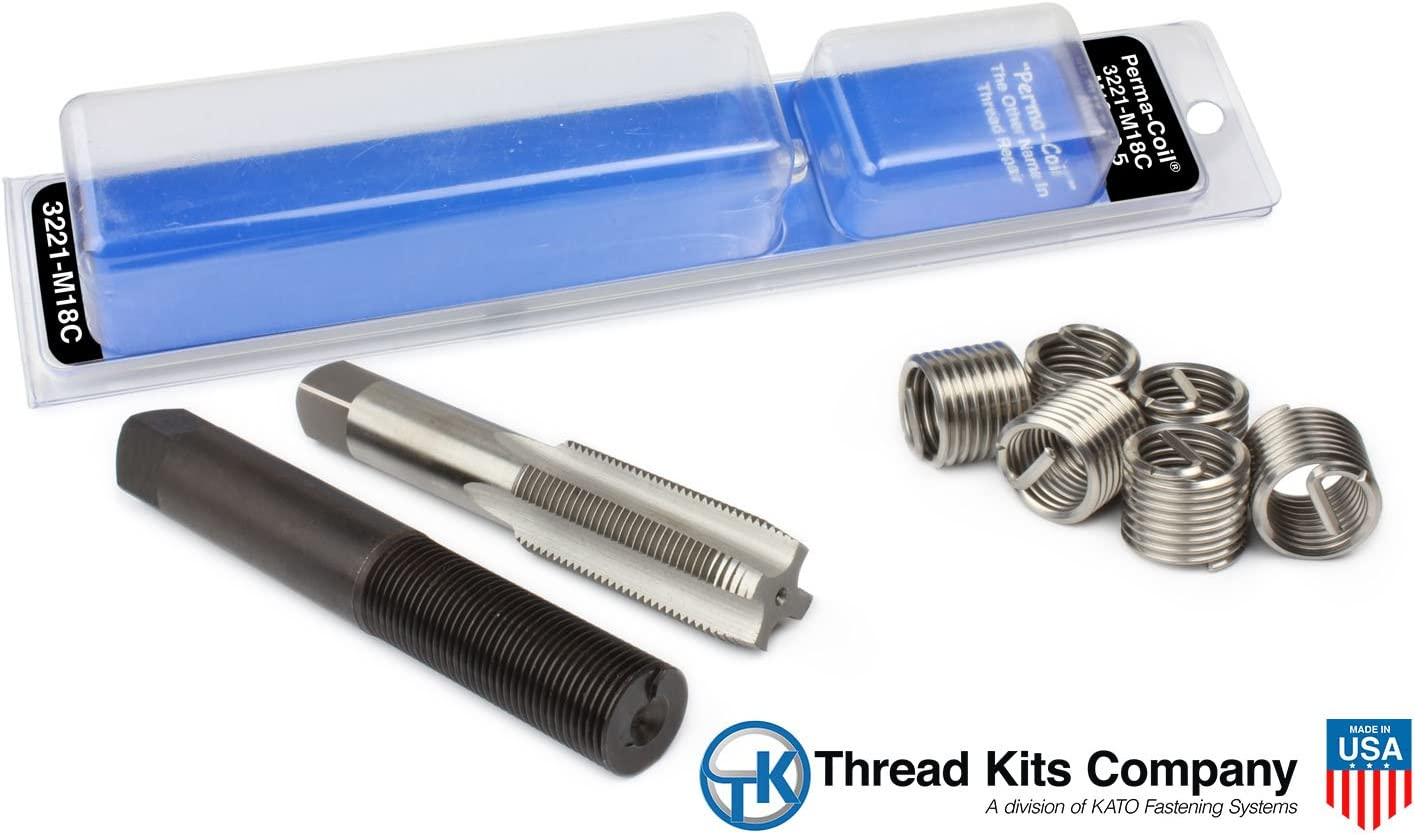 Limited time trial price Perma-Coil 3221-M18C Metric Thread Repair 6PC Helico Translated M18X2.5 Kit