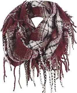 Plaid Scarfs Hot Sale, deatu Clearance Man Woman Teen Girl Winter Warm Tassel LongPlaid Soft Shawl Infinity Scarf