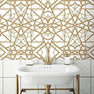 RoomMates White & Gold Shatter Geometric Peel and Stick Wallpaper
