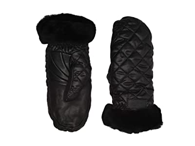 UGG Quilted Performance Mitten with Tech Thumb (Black) Extreme Cold Weather Gloves