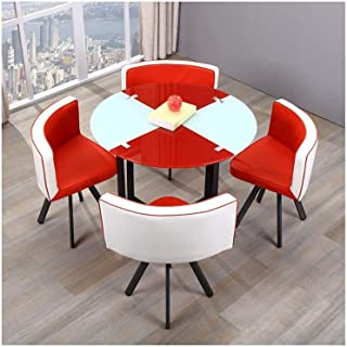 Amazon Com Kitchen Dining Room Sets Red Table Chair Fu Home