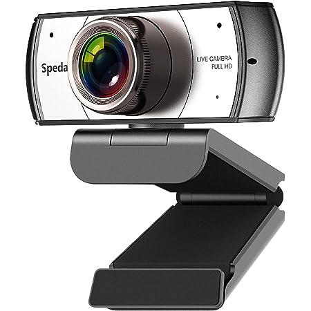 Spedal 920Pro WEBカメラ ウェブカメラ HD1080P 200万画素 120°超広角 自動光補正 ビデオ 内蔵マイク 会議 遠距離学習 ライブストリーミング リモートティーチング PC ノートパソコン デスクトップ用 PCカメラ パソコンカメラ Windows7/8/10/XP Mac OS Linux Smart TV/TV Box Youtube, Skype, Facebook, zoom, Facetimeなど対応可