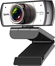Wide Angle Webcam, Software Control 120 Degree View Video Conference Distance Learning Remote Teaching Camera, Full HD 108...