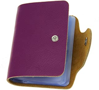 Liying Versatile Soft Premium Leather Wallets Credit Card Holder ID Business Case Purse(Unisex) for All (Purple)