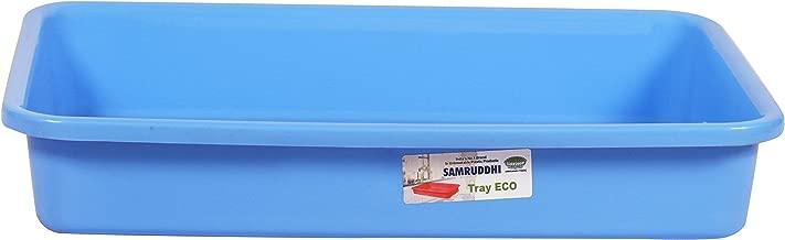 Samruddhi Plastic Tray (42 cm x 31.2 cm x 20 cm, Blue)
