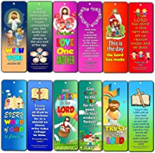 Great Memory Verses for Kids Bookmarks Series 2 (12-Pack) - Compilation of Favorite Bible Verses Easy to Memorize for Kids