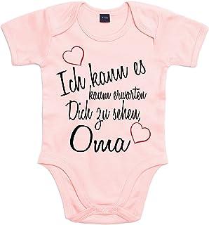 Mister Merchandise Mister Merchandise Baby Body Ich kann es kaum erwarten Dich zu sehen Oma Strampler liebevoll bedruckt Wiedersehen Weg Reise Rosa, 3-6
