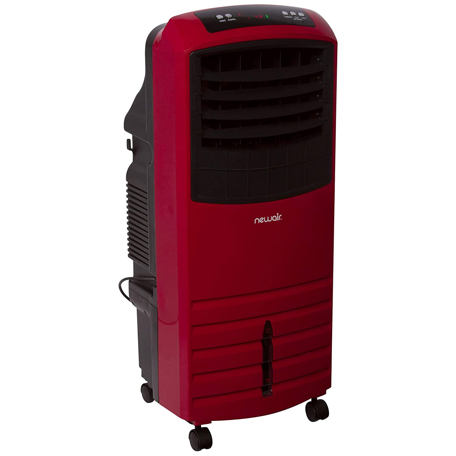 NewAir Portable Evaporative Air Cooler with Fan & Humidifier, Indoor Tower Fan in Red, AF-1000R btqccixiamorh8
