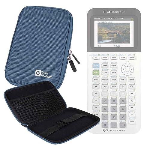 Coque de rangement bleue rigide pour Texas Instruments TI-83 Premium, TI 82 Advanced et TI-NSPIRE CX calculatrices scientifiques - résistant à l'eau - DURAGADGET - Calculatrice non fournie
