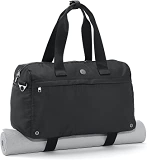 Live Well 360 Core 2.0 Fitness Bag (Onyx Black) - Stylish & Premium Sports Duffel Bag for Gym, Yoga, Work, Daily Commute, Travel & Weekend Getaway - Bag with Dirty Clothes & Laptop Compartment