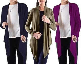 Big Girls' 3 Pack Long Sleeve Flyaway Cardigan Sweater (3-Pack)