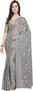 Ishin georgette with blouse piece Saree (Ishinsc-64012_ Grey_ Free)