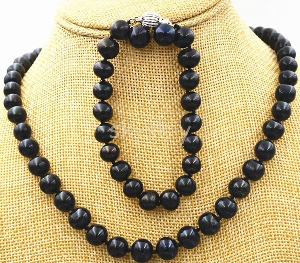 BDC-11448 Beads DIY Crafts Natural 9-10mm Shell Easy-to-use Dedication Tahitian P Black