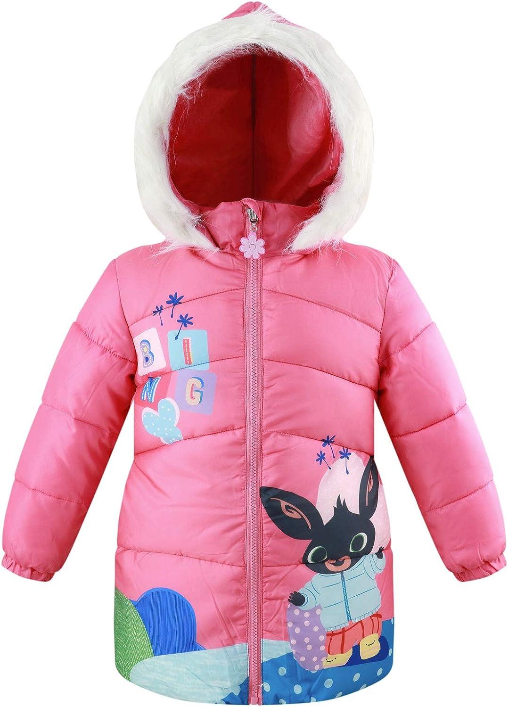 Autunno Inverno Bambina Bambino Bing Bunny Parka Giacca Giaccone Giubbotto Piumino Sintetico con Cappuccio