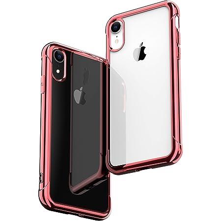 ONES ローズゴールド·メッキ·高透明 iPhone XR ケース 耐衝撃 超軍用規格 『エアバッグ、半密閉音室、Qi充電』〔滑り止め、すり傷防止、柔軟〕〔美しい、光沢感、軽·薄〕 衝撃吸収 HQ·TPU クリア カバー
