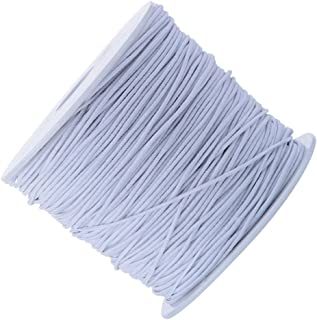Elastic Cord Stretch Thread Beading Cord Fabric Crafting String, 0.8 mm, 100 Meters 100 Meters white home023