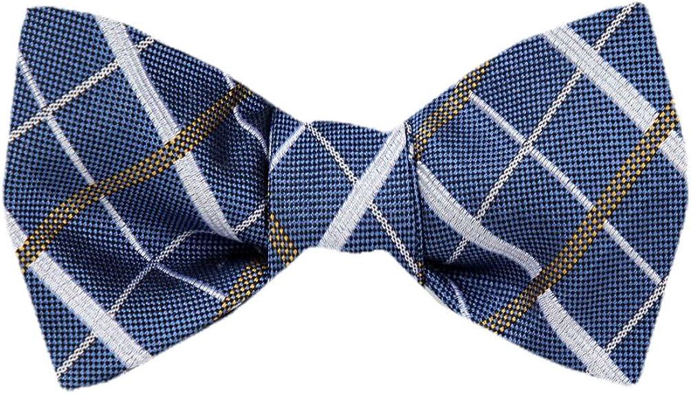 FBTZ-1215 - Men's Silk Self Tie Bowtie Tie Yourself Bow Ties