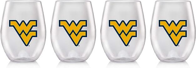 Duck House NCAA unisex Plastic Stemless Wine Glass Set