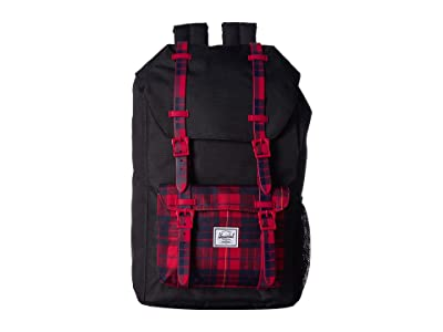 Herschel Supply Co. Kids Little America (Youth) (Black/Winter Plaid) Backpack Bags