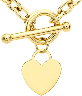 Carissima Gold Collana con Pendente da Donna in Oro Giallo 9K (375), 41 cm