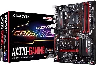 GIGABYTE GA-AX370-Gaming (AMD Ryzen AM4/ X370/ SMART FAN 5/ HDMI/ M.2/ 2xUSB 3.1 Gen 2 Type-A/ ATX/ DDR4 Motherboard) (Renewed)