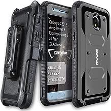 Galaxy J3 2018/J3 V 3rd/Express Prime 3/Achieve/J3 Star/Orbit/Amp Prime 3 COVRWARE [Aegis Series] Built-in [Screen Protector] Heavy Duty Full-Body Armor Belt Clip Holster Case[Kickstand] Gray