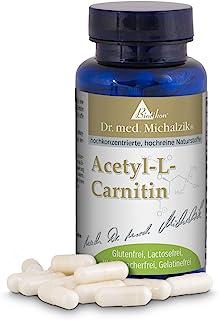 Acetyl L-karnitin hög dos - 100 kapslar hög dos - 500 mg acetyl L-karnitin per kapsel - enligt Dr. med. Michalzik - utan t...