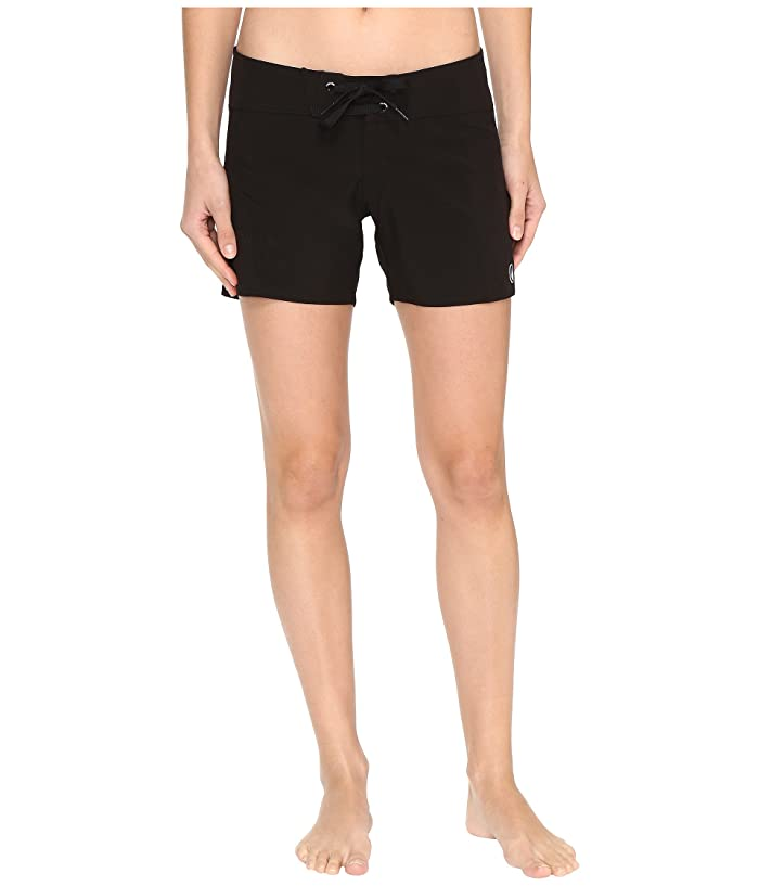 Volcom Simply Solid 5 Boardshorts (Black) Women