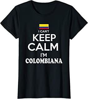 Womens Colombia Keep Calm Camiseta Mujer Colombian tshirt