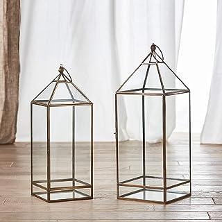 Altezza 38//57//78 cm XXL in Acciaio Inox FineHome Set di 3 Lanterne da Giardino