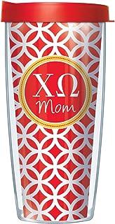 Chi Omega Mom on Roundabout 22 Oz Traveler Tumbler Mug with Lid
