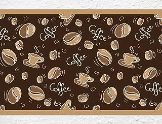 Cappuccino Kaffee Scheibengardine Küche Cafè Bistro Tasse nach Maß 59 cm hoch